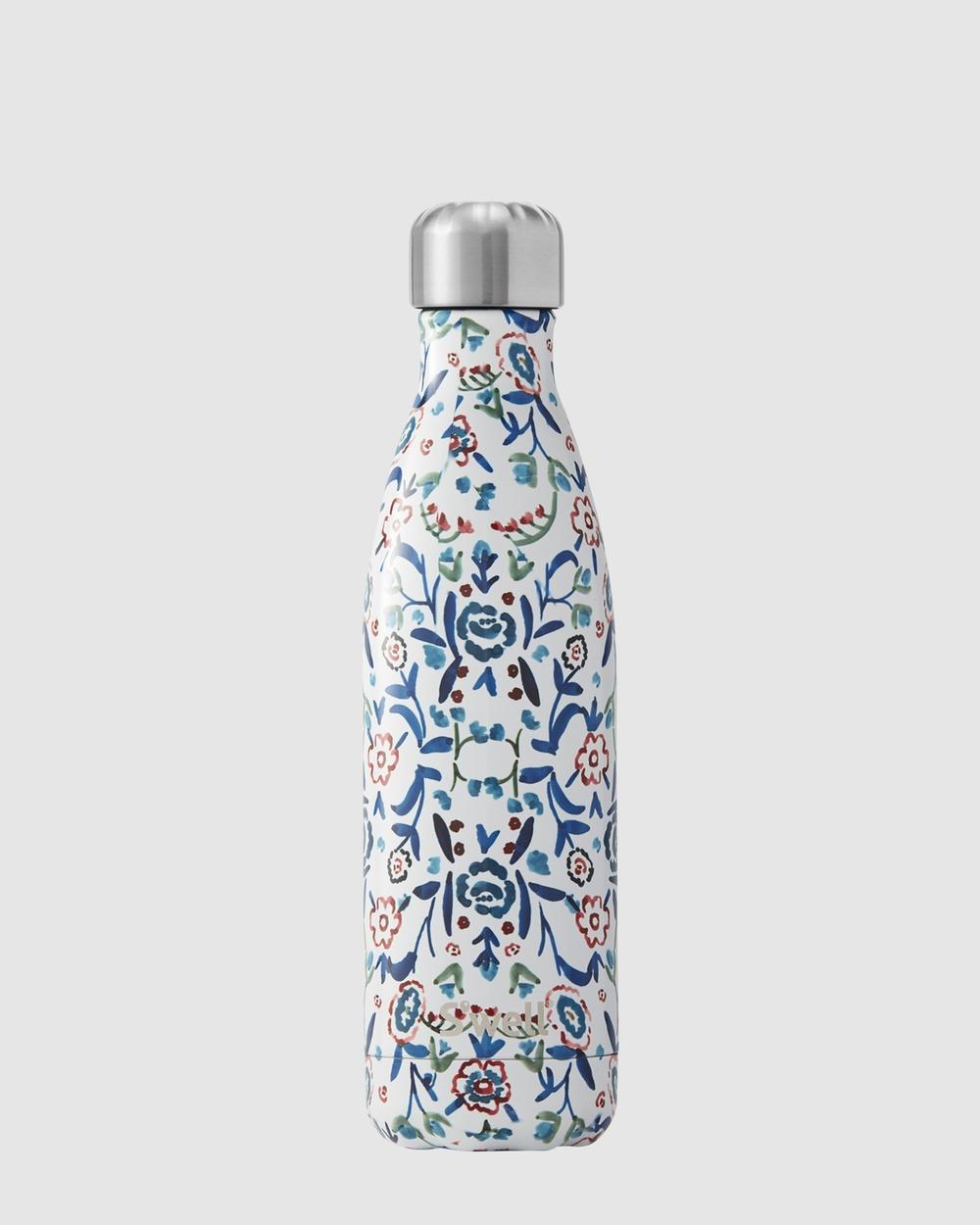 S'well Insulated Bottle Flora Collection 500ml Blue Cornflower Water Bottles Blue