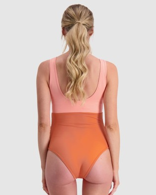 Maive & Bo Miami Maternity One Piece Swimsuit - One-Piece / Swimsuit (Orange)