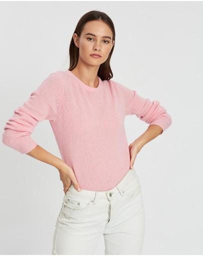 American Vintage Round Collar Pullover Pink