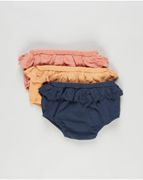 Cotton On Baby - 3-Pack Kelsie Frill Bloomers - Babies