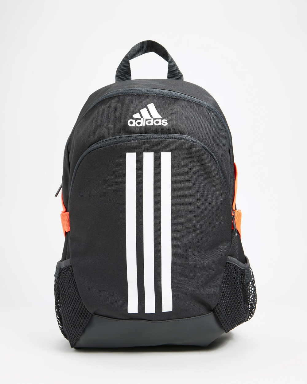 adidas Performance Power 5 Small Backpack Kids Backpacks Carbon, White, Vista Grey & App Solar Red