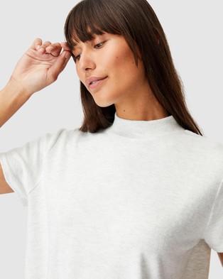 Cotton On Body - Super Soft Lounge T Shirt - T-Shirts & Singlets (Soft Grey Marle) Super Soft Lounge T-Shirt