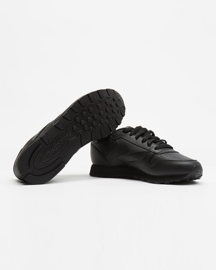 Reebok Classic Leather   Women's - Lifestyle Sneakers (Black)