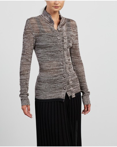 Christopher Esber - Double Button Mesh Cardigan