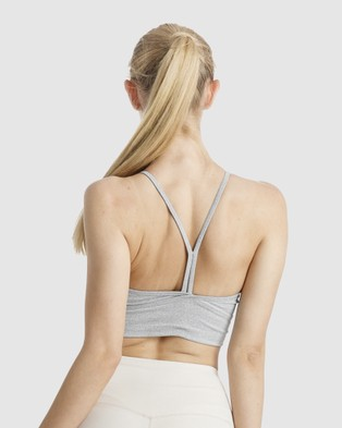 The Brave Women's Elevate Crop Top - Cropped tops (Light Grey Marle)
