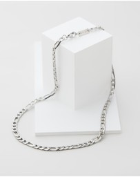 Icon Brand - Stainless Steel Figaro Necklace