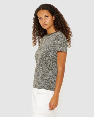 Jag Phoebe Dash Print Tee - T-Shirts & Singlets (green)