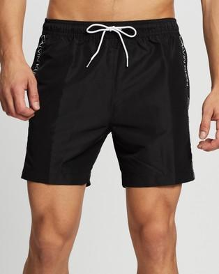 Calvin Klein Core Logo Tape Swim Shorts - Swimwear (Black)