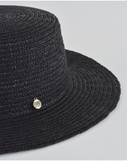 Ford Millinery Betsy Boater Black