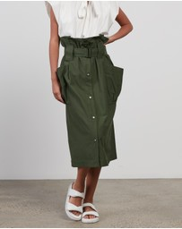 Kenzo - Belted Skirt With Pockets