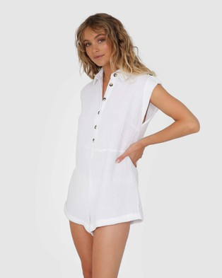 Lost in Lunar  Kai Playsuit - Jumpsuits & Playsuits (White)