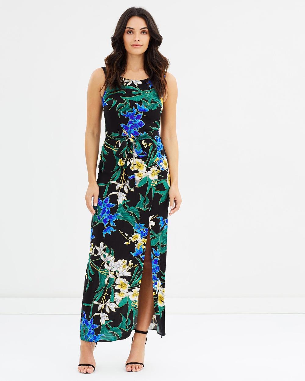 Dorothy Perkins Printed Maxi Dress Dresses Black Printed Maxi Dress