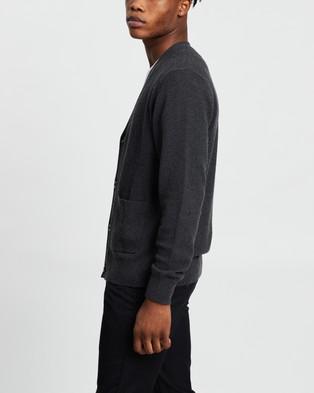 AERE - Wool Blend Cardi - Jumpers & Cardigans (Charcoal) Wool Blend Cardi