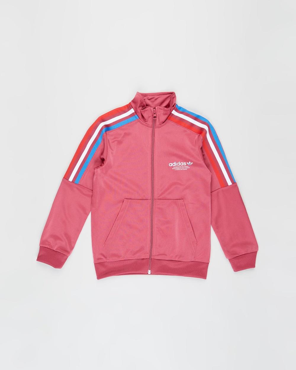 adidas Originals Adicolour Track Jacket Teens Coats & Jackets Wild Pink