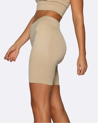 Nicky Kay Seamless Bike Shorts - Shorts (Cream)