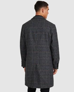 Arvust Jonas Check Overcoat - Coats & Jackets (GREY)