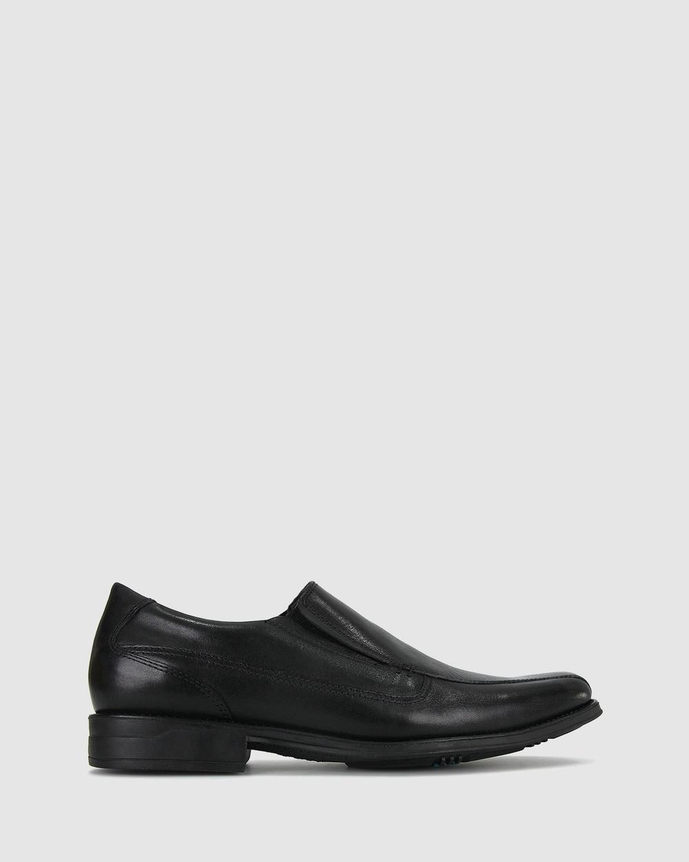 Airflex Carlos Slip On Dress Shoes Flats Black