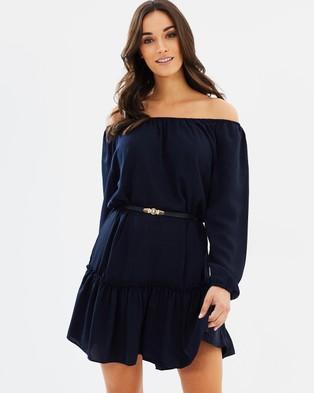 Decjuba – Hamony Off Shoulder Dress Navy