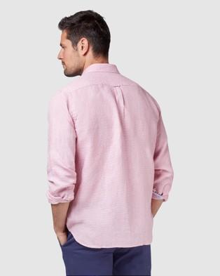 Blazer Alexander Long Sleeve Print Shirt - Shirts & Polos (Pink)