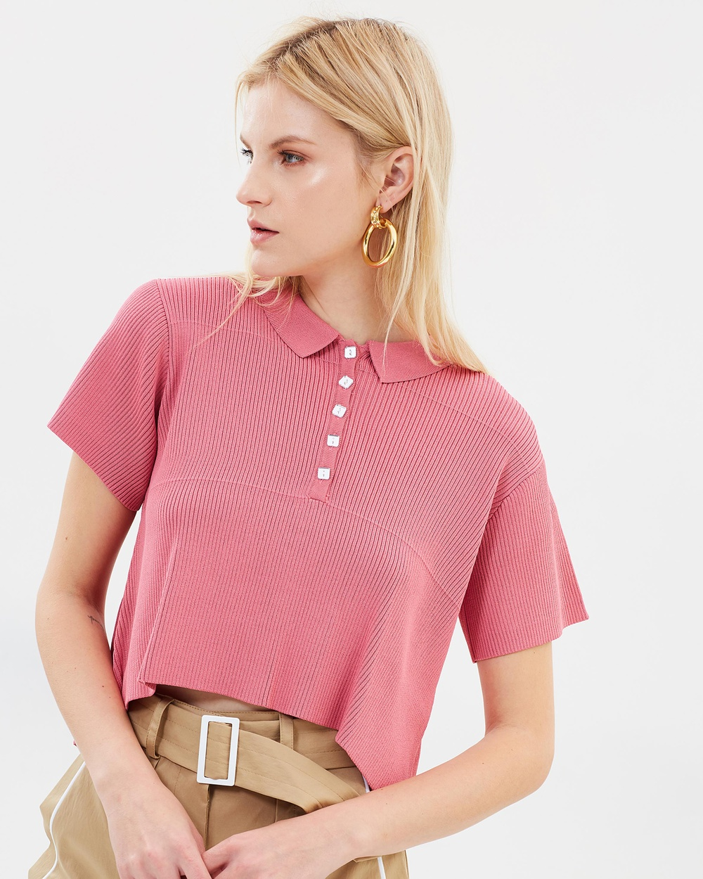 Manning Cartell Setting The Tone Polo Cropped tops Rose Setting The Tone Polo