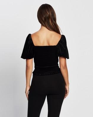 M.N.G Elascam T Shirt - Tops (Black)