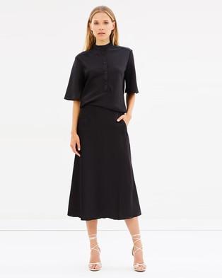 Christopher Esber – Button Up Tee Dress Black
