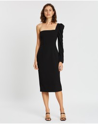 BY JOHNNY. - L Shape Shell Sleeve Midi Dress