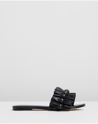 Mara & Mine - Rey Leather Fringe Slides