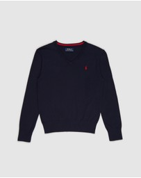 Polo Ralph Lauren - Long Sleeve V Neck Sweater - Teens