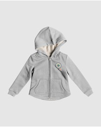 Roxy - Girls 2-7 Amazing You Zip-Up Sherpa Hoodie