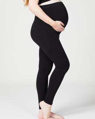 Cake Maternity Honey Seamless Pregnancy Leggings - Pants (Black)