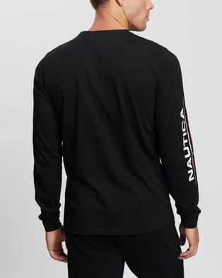 NAUTICA Laveer LS T Shirt - T-Shirts & Singlets (True Black)