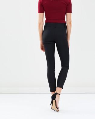 Forcast Cara Slim Leg Pants - Pants (Black)