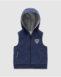 Purebaby - Quilted Hooded Vest - Kids