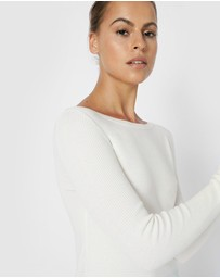 Forcast - Stacey Boat Neck Knit