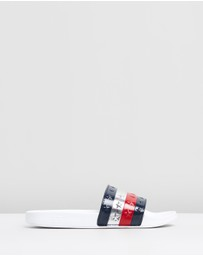 Tommy Hilfiger - Embossed Stars Pool Slides