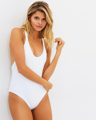 Fella Swim – Archie One Piece – One-Piece Swimsuit White