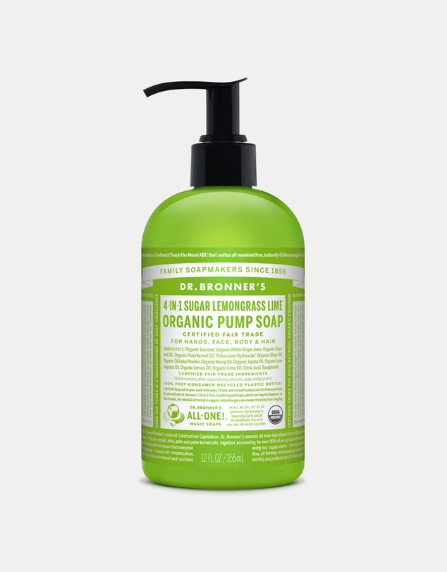 Life Organic Pump Soap Lemongrass Lime 355ml