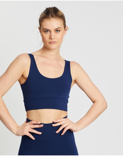 Ave Activewoman Classic Extended Crop Top Navy