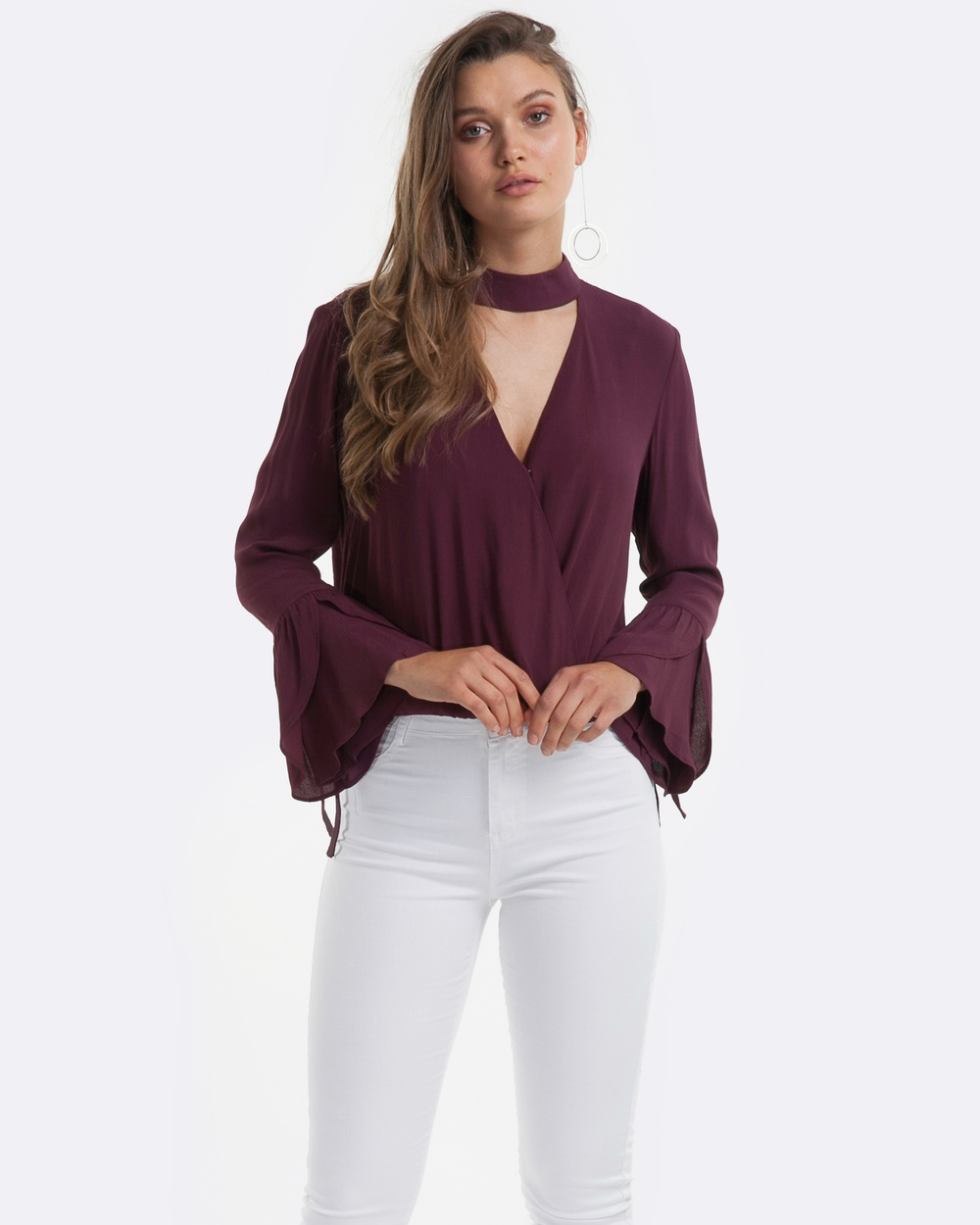 Amelius Allure Blouse Tops Wine Allure Blouse