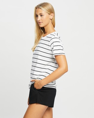 Bonds Mid Crew Tee - Short Sleeve T-Shirts (Stripe)