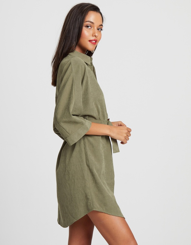Calli - Navo Belt Shirt Dress