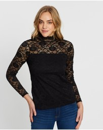 Dorothy Perkins - Lace High Neck Top