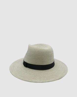 Morgan & Taylor Bronte Fedora - Hats (Ivory/ Black)
