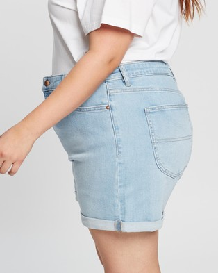 Riders by Lee Mid Thigh Shorts - Denim (California Fade)