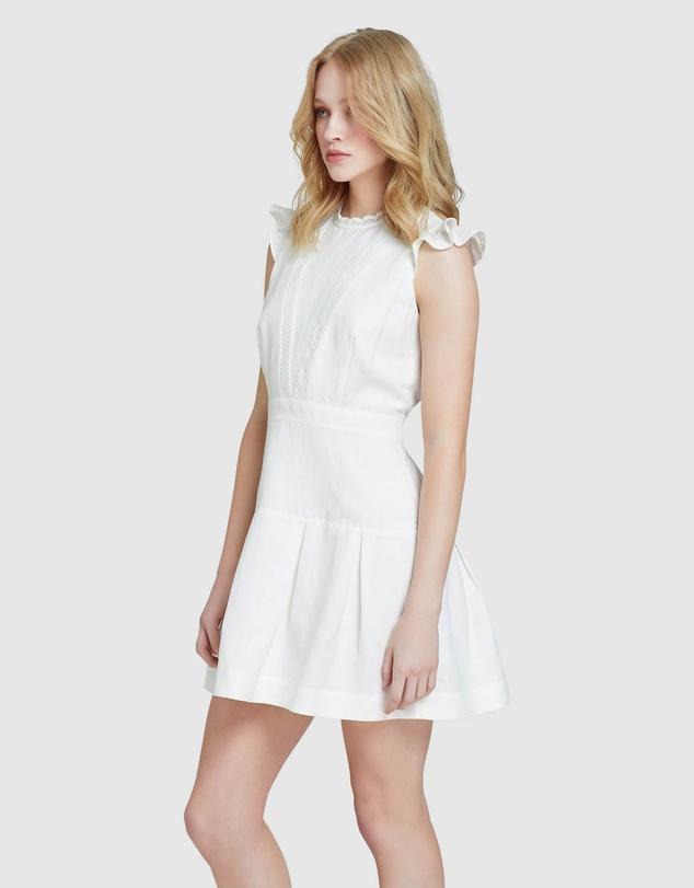 Women Morris Lace Insert Dress