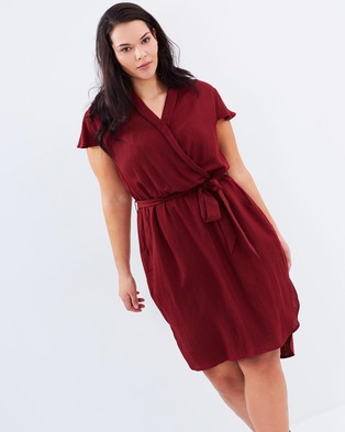 Atmos & Here Curvy – Bonnie Wrap Dress Burgundy