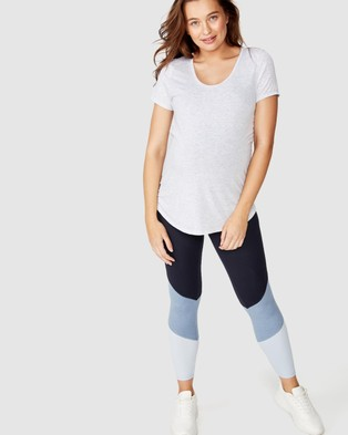 Cotton On Body Active Maternity Gym T Shirt - Short Sleeve T-Shirts (Grey Marle)