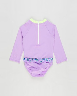 Speedo Frilly Sun Suit   Toddlers Kids - Rash Suits (Fruity Fun)