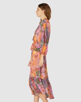 Gorman Iris Veins Long Dress Dresses Multi